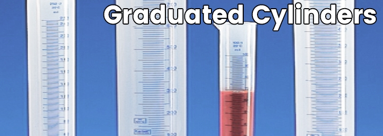 Double Metric Scale Graduated Cylinders
