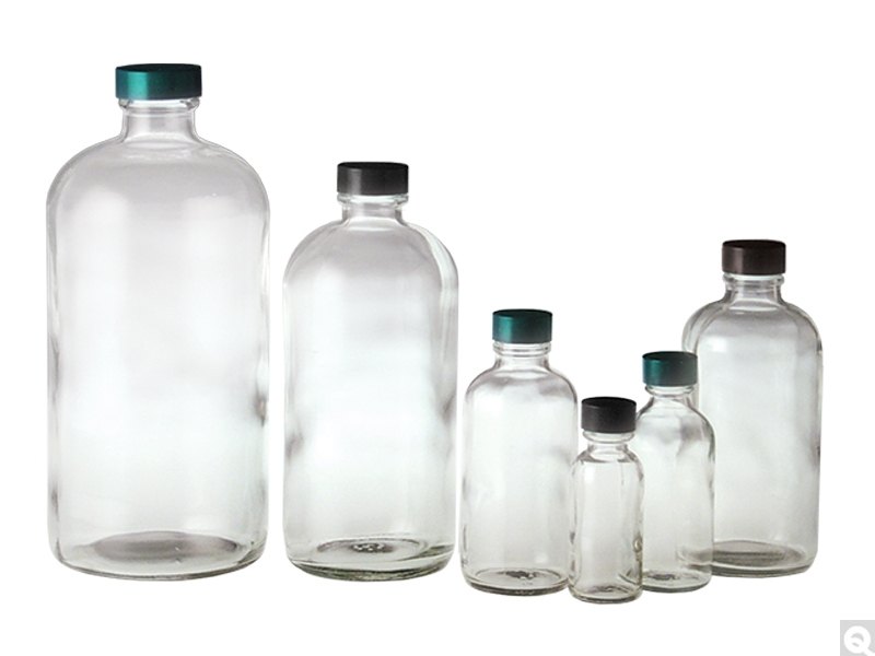 Clear Boston Rounds Clear Glass Boston Round Bottles