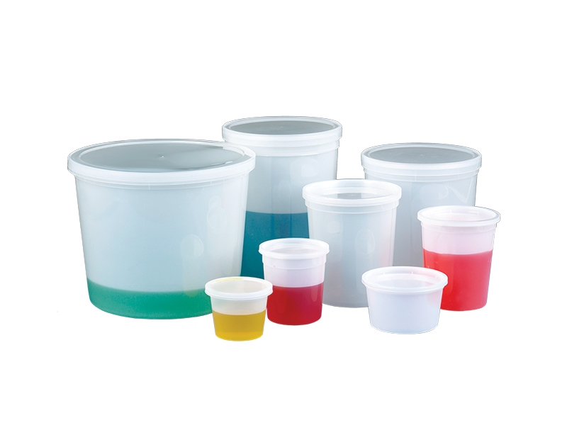 Translucent Storage Containers with Snap-On Lids