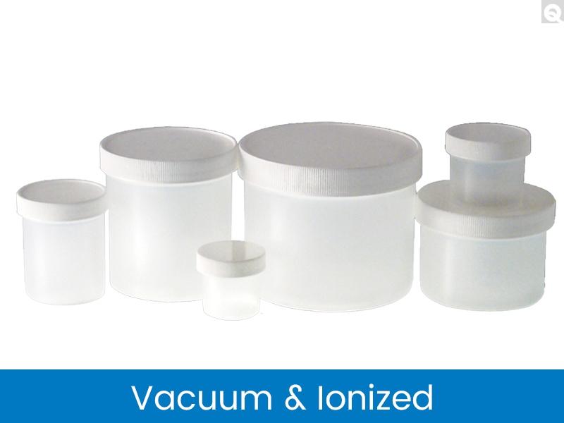 Polypropylene Jars - Natural, Vacuum & Ionized