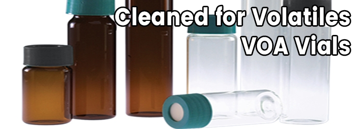 Cleaned for Volatiles - VOA Vials