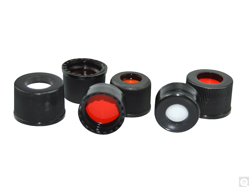 Polypropylene Screw Thread Hole Caps with Septa for Chromatography Vials