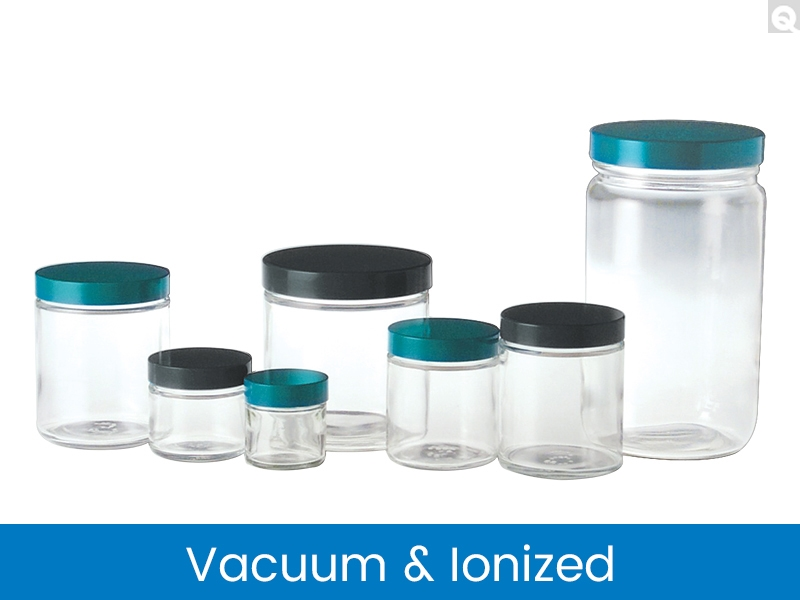 Straight Sided Round Jars, Vacuum & Ionized