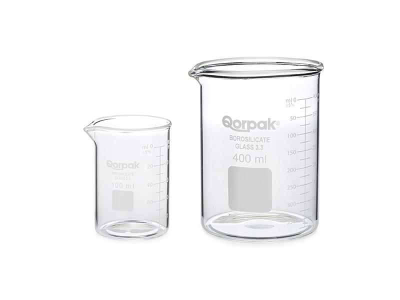 Qorpak® Graduated Low Form Griffin Beaker