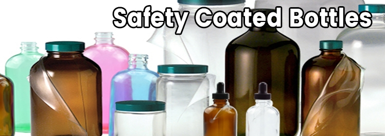 Safety Coated Glass Bottles