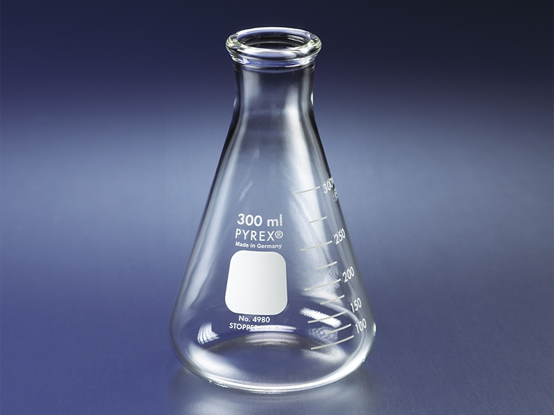 PYREX® Narrow Mouth Heavy Duty Erlenmeyer Flasks