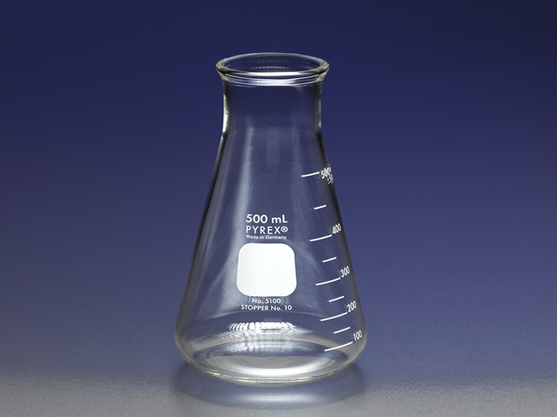 PYREX® Wide Mouth Erlenmeyer Flasks with Heavy Duty Rim