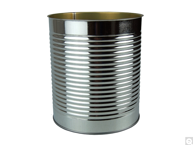 Enamel Lined Open Top Ribbed Round Can