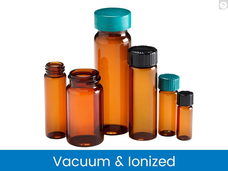Screw Thread Vials - Amber, Vacuum & Ionized