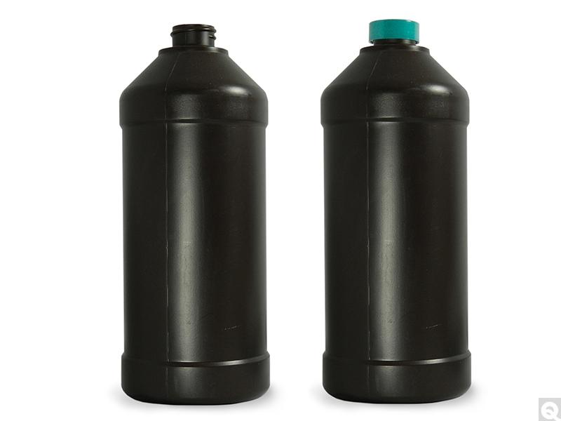 Modern Round Barrier Bottles - Amber
