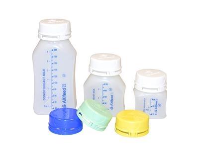 Tamper Evident Milk Bank Bottles & Caps