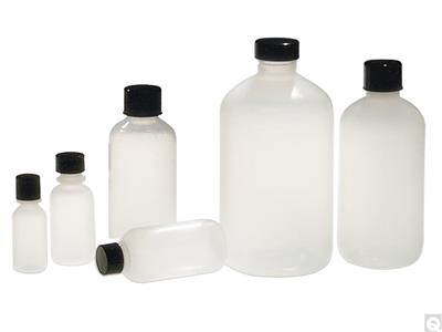 LDPE Boston Round Bottles - Natural