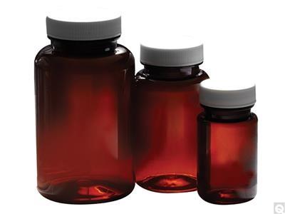 Packer Bottles - Amber PET