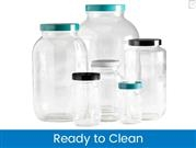 Standard Wide Mouth Bottles, Ready to Clean