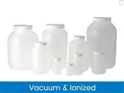 Wide Mouth Round Bottles, Vacuum & Ionized
