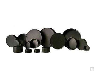 Black Unlined Polypropylene Caps