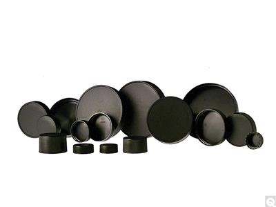 Black Unlined Polypropylene Caps