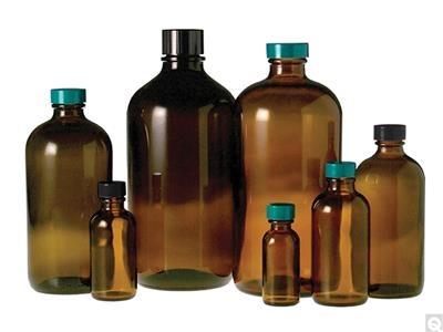 Amber Boston Round Bottles