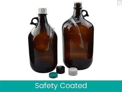Safety Coated Jugs - Amber