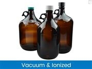 Amber Glass Jugs, Vacuum & Ionized