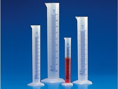 Polypropylene Graduated Cylinders with Printed Graduations