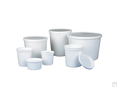 White Storage Containers with Snap-On Lids