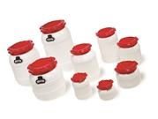 CurTec HDPE Wide Neck Drums With Red PP Lids