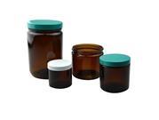 Straight Sided Round Jars - Amber