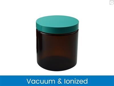Straight Sided Round Jars - Amber, Vacuum & Ionized
